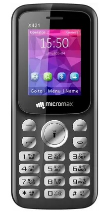 Micromax X421 new 2G feature phone in India pic
