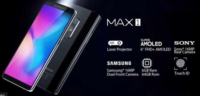 Blackview Max 1 Projector phone price image 2019